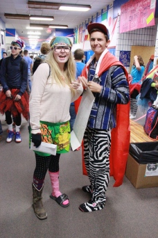 Crazy Day; Seniors Kaila Hill & Hank DeVries