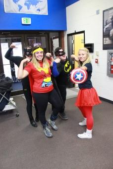 Super Hero Day; Abby Blick, Alexia Machado, Jorden Bridwell, & Abigale Hale