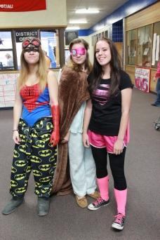 Super Hero Day; Alexia Porté, Lindsey Drinkall, & Courtney Poulson