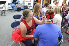 Music Department doing face painting
