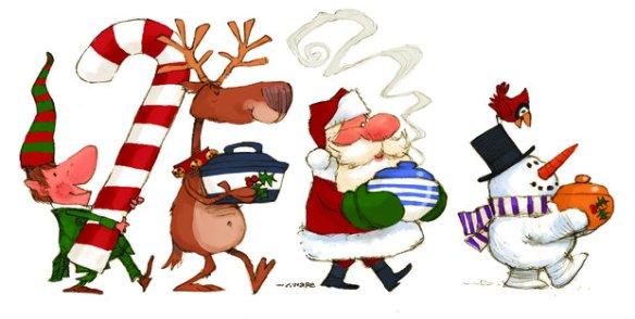 Image result for christmas dinner clip art